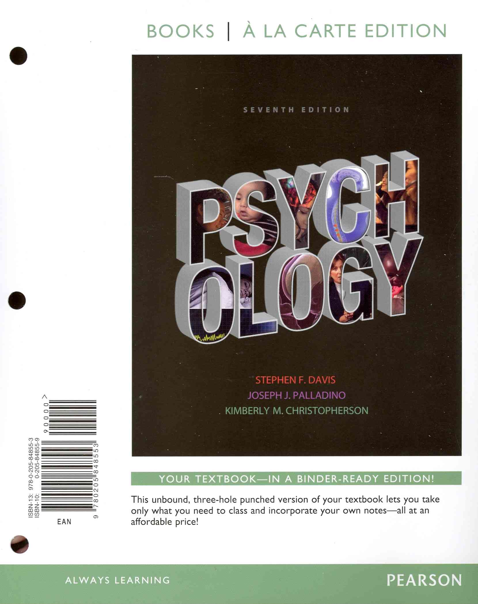 Psychology By Davis, Stephen F./ Palladino, Joseph J./ Christopherson, Kimberly